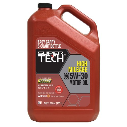 Super Tech High Mileage 5W30 Motor Oil, 5 qt