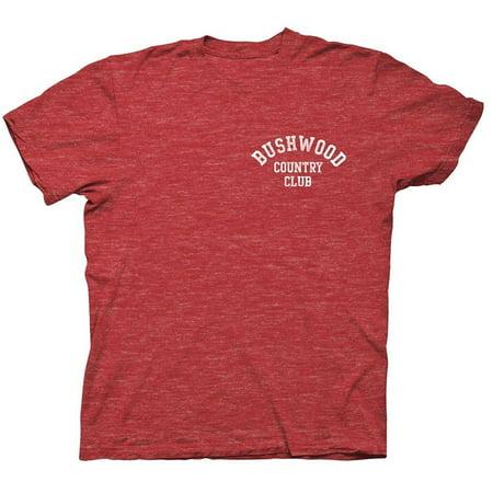 Caddyshack Bushwood Country Club Adult Heather Red T-shirt