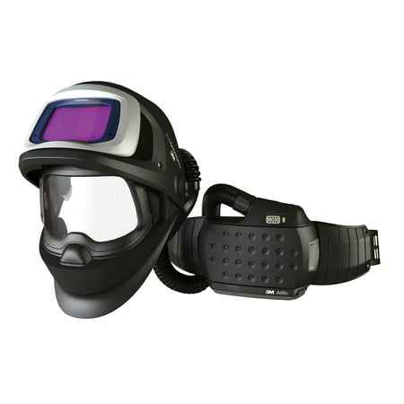 3M 36-3301-20SW Adflo Belt-Mounted Universal Lithium Ion Organic Vapor Acid Gas High Efficiency PAPR System With Speedglas 9100 FX-Air Welding Helmet And 5, 8 - 13 Shade 2.1'' X 4.2'' Speedglas 9100X