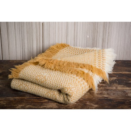 Gracie Oaks Leafwood Wool Blanket