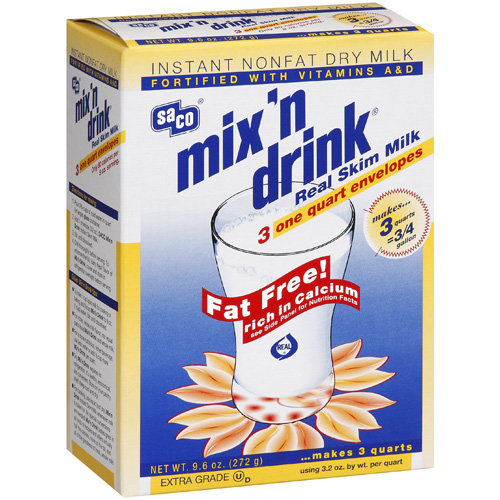Saco Real Skim Milk Mix N Drink, 9.6 Oz