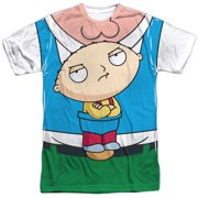 Family Guy Adult Cartoon Show Stewie Carrier Costume Adult 2-Sided Print T-Shirt
