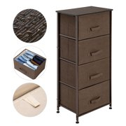 4-Tier Dresser Drawer, Storage Unit with 4 Easy Pull Fabric Drawers and Metal Frame, Wooden Tabletop, for Closets, Nursery, Dorm Room, Hallway, Brown