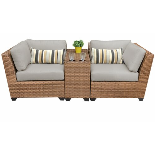 Sol 72 Outdoor Waterbury 3 Piece Conversation Set