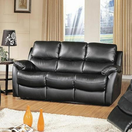 Wildon Home Brett Top Grain Leather Reclining Sofa