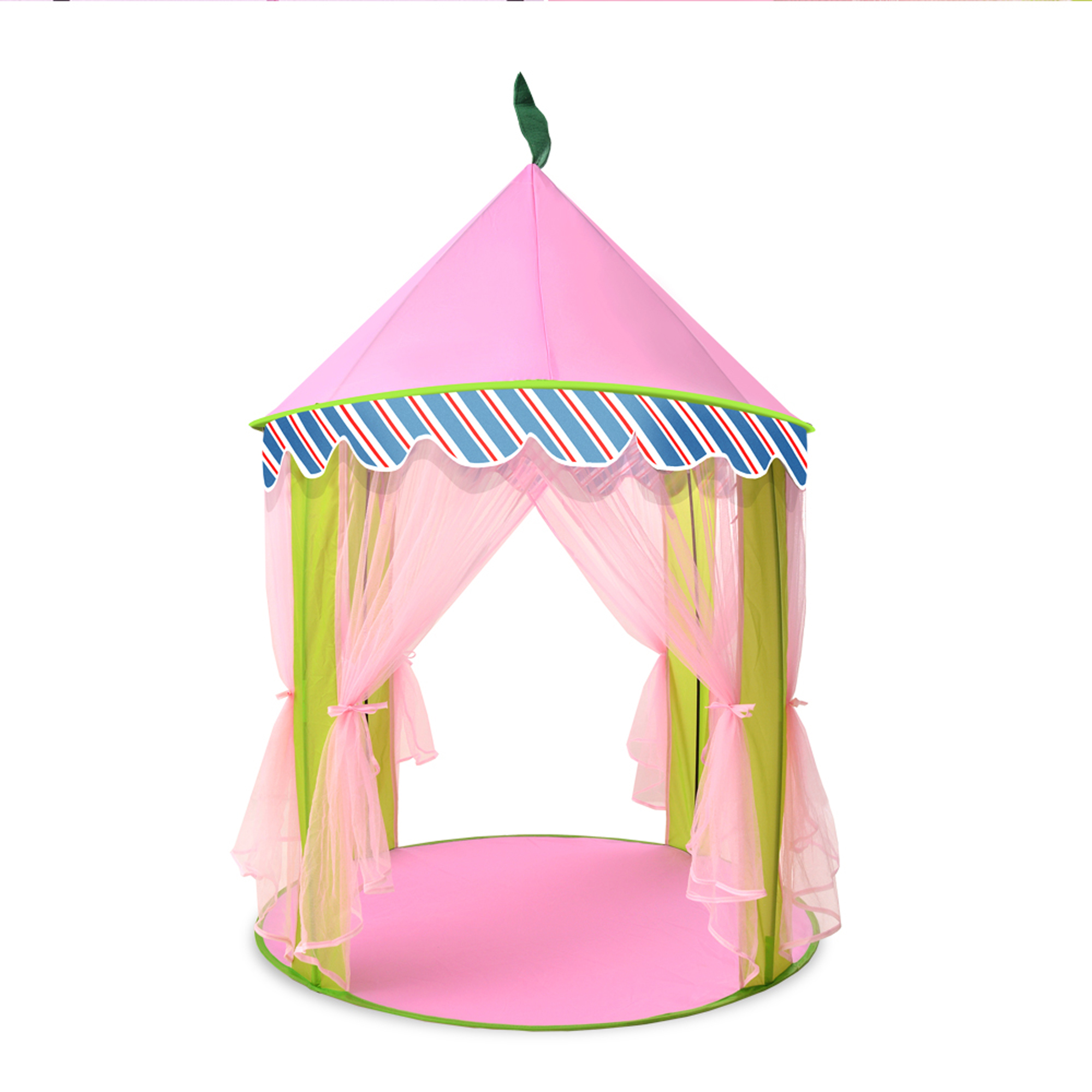 ODOLAND Princess Castle Children Play Tent for Kids Indoor u0026 Outdoor Pink Playhouse  sc 1 st  Walmart : castle tents and playhouses - memphite.com