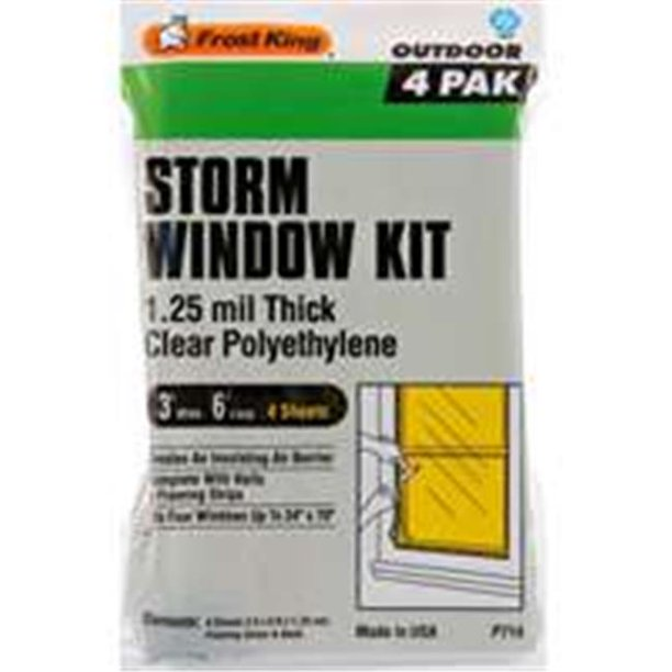 Thermwell Products P714H Window Kit 4 Piece - 3 Ft. x 6 Ft. x 1.25M.