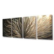 Radiance Gold Silver- Abstract Metal Wall Art Contemporary Modern Decor by Miles Shay
