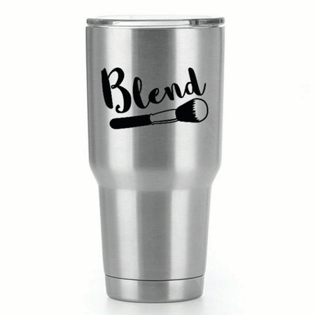 Makeup Blend |Single Yeti Decal | 3-Inch Black Vinyl Decal