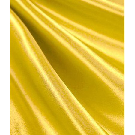 Yellow Satin Fabric - by the Yard By Online Fabric Store - Walmart.com