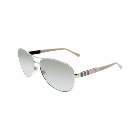 Burberry Women's Gradient BE3080-10056V-59 Silver Aviator Sunglasses