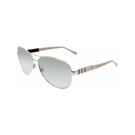 Burberry Women's Gradient BE3080-10056V-59 Silver Aviator - Silver Aviator Sunglasses