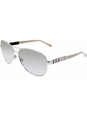 611737385457 Product Image Burberry Women s Gradient BE3080-10056V-59 Silver Aviator  Sunglasses