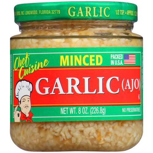 Chef Cuisine Minced Garlic, 8 oz