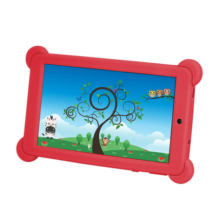 Kocaso 7 Inch Quad Core  Android 4 4 Kitkat  Kids Hd Tablet Pc  8Gb Storage W  32 Expandable Memory  Micro Usb Sd Card Slot  1024X600  Dual Camera  Wifi  G Sensor  3G Dongle  Google Play Apps   Red