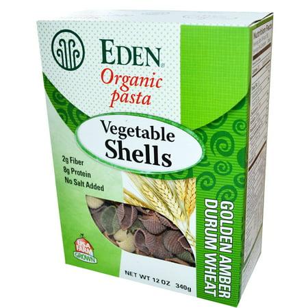 Eden Foods, Organic Pasta, Vegetable Shells, 12 oz (pack of 6)