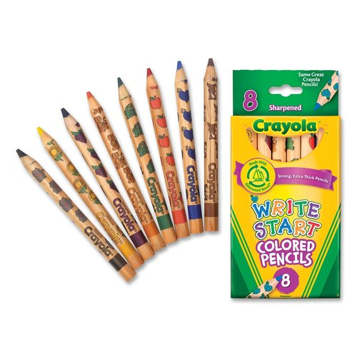Crayola 8ct Write Start Colored Pencils by Generic