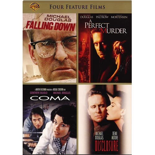 4 Film Favorites: Michael Douglas - Falling Down / A Perfect Murder / Disclosure / Coma (Widescreen)