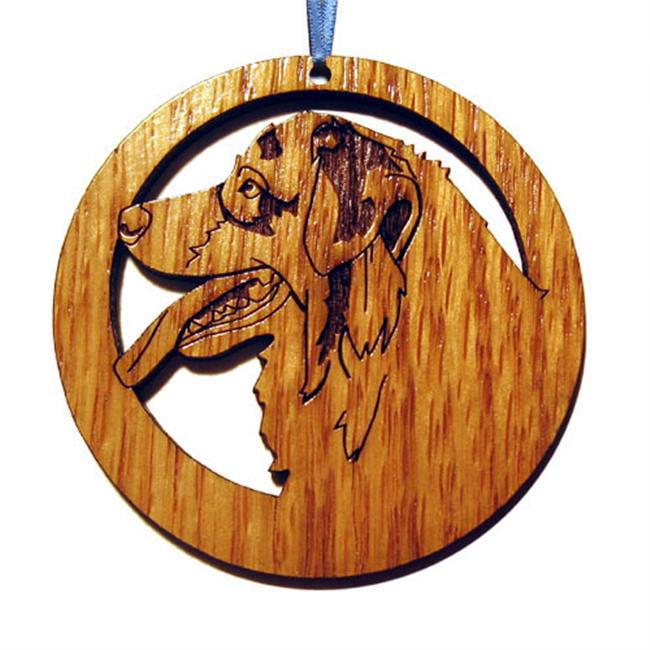 CAMIC designs DOG025N Laser-Etched Australian Shepherd Dog Ornaments - Set of 6