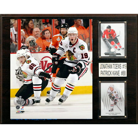 C&I Collectables NHL 12x15 Patrick Kane, Jonathan Toews Chicago Blackhawks Player Plaque
