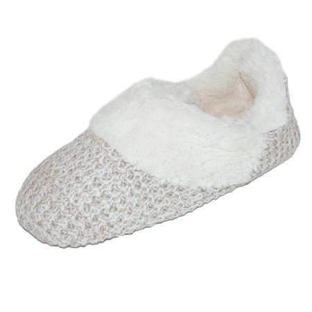 Dearfoams  Women's Sweater Knit Bootie Slippers
