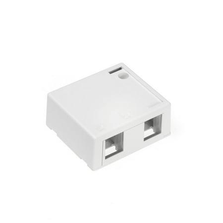 1 Port Surface Mount Housing (LEV410892WP - LEVITON 41089-2WP QuickPortreg; 2-Port Surface Mount Housing (White) )