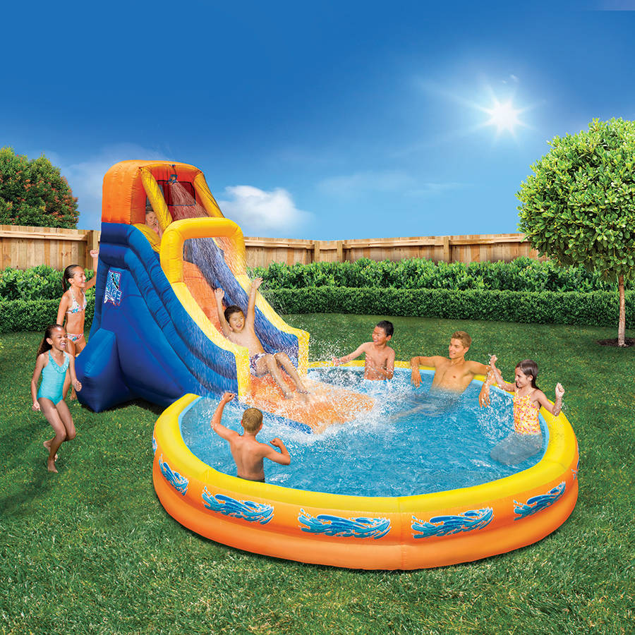 banzai the plunge water slide walmart com