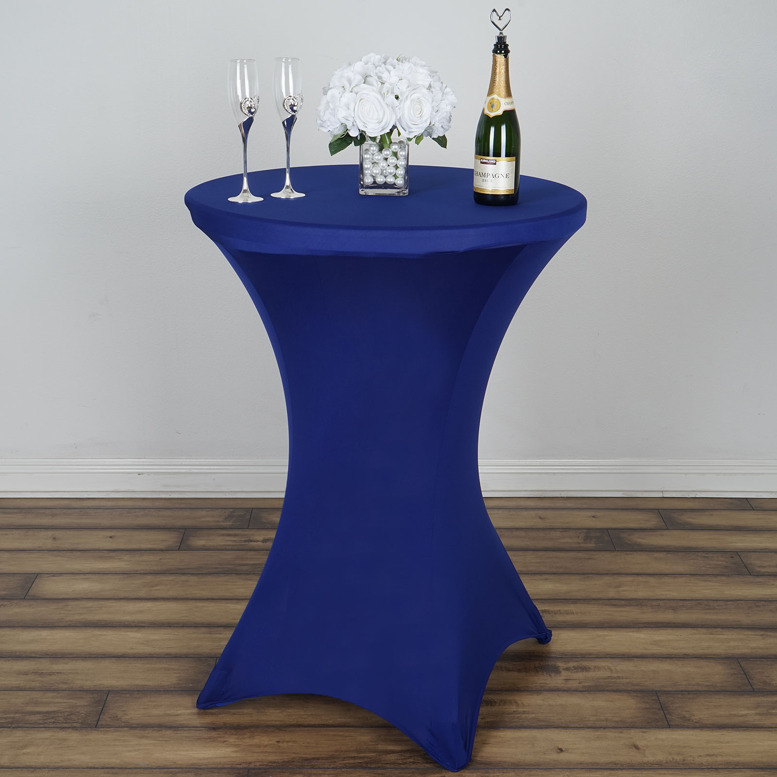 """White ROUND 60/"""" SPANDEX STRETCHABLE TABLECLOTH Wedding Catering Decorations SALE"""