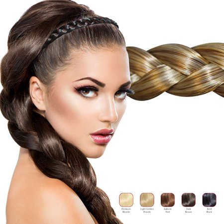 Buy 2 Hollywood Hair Flat Braid headband and get 1 Free - Bold - Braided Hair Band