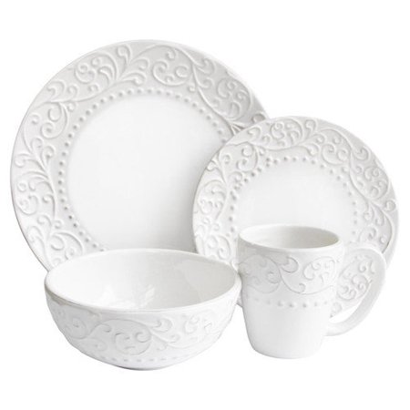 Jay Import 1567113-rb Bianca White 16 Piece Dinnerware (White Bianca Drop)