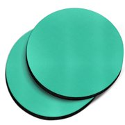 CARIBOU Round Neoprene Car Coaster for Drinks, Set of 2pcs, Solid Uncommon Teal