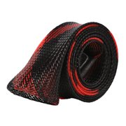 Expandable Braided Fishing Spinning Rod Cover Rod Sock Fishing Pole Sleeve Color:Black