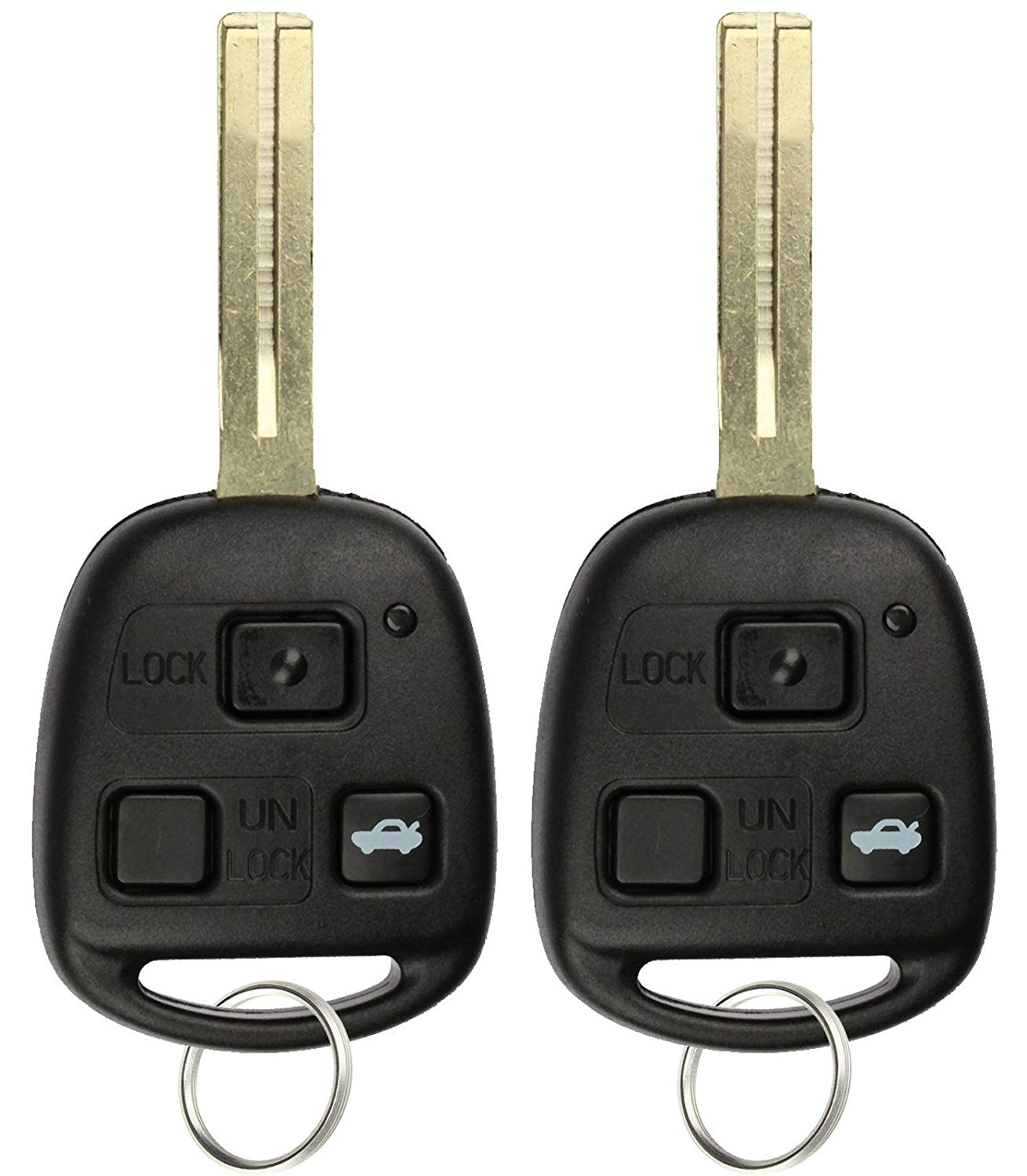 Discount Keyless Remote Uncut Car Key Fob Replacement Case Shell For HYQ1512V 2 Pack HYQ12BBT