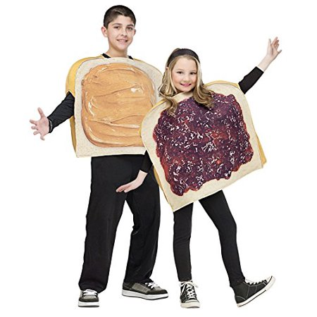 Peanut Butter And Jelly Halloween Costumes (UHC Peanut Butter N Jelly Outfit Funny Comical Theme Party Halloween Costume, Child)