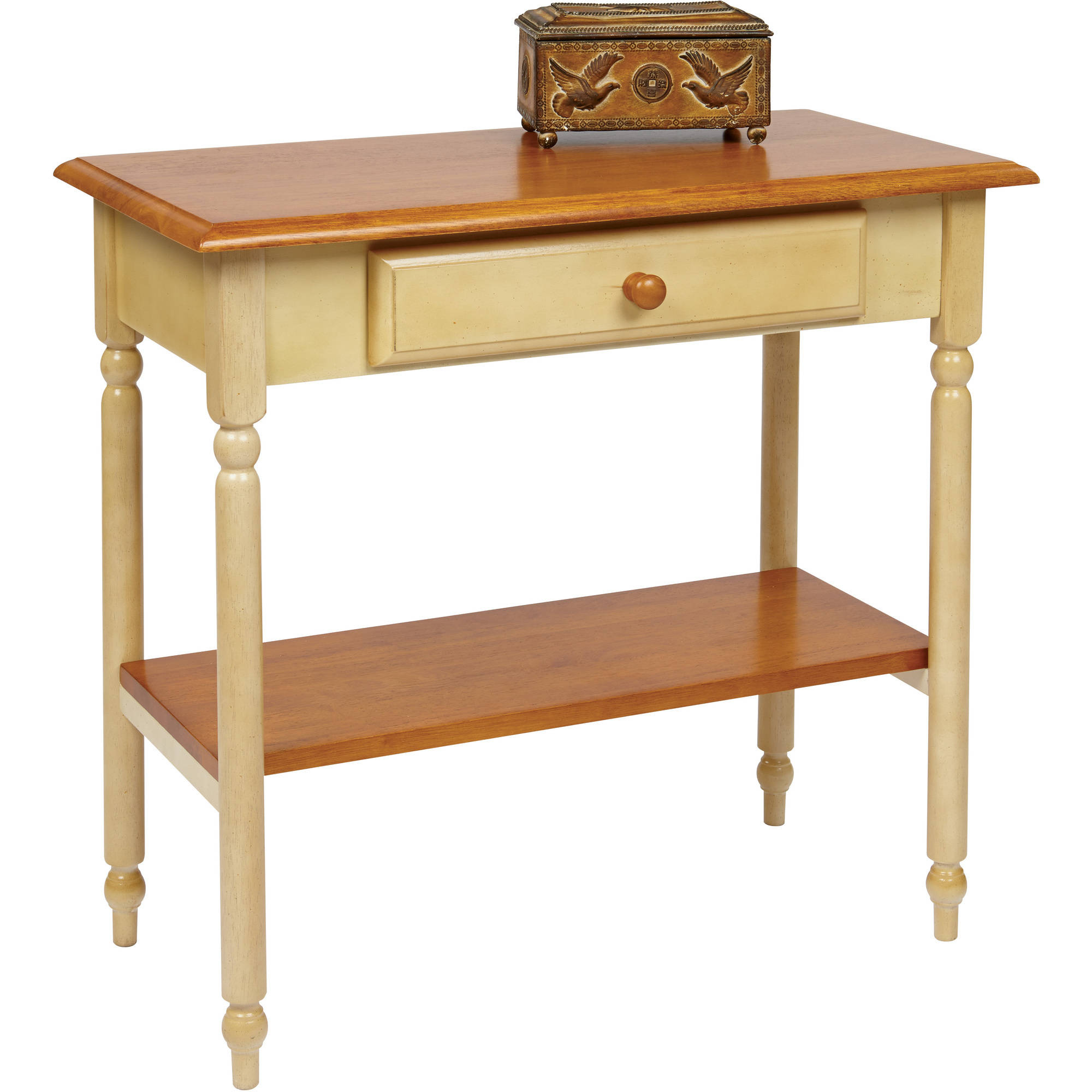 Antique Entryway Table office star country cottage foyer table in antique yellow
