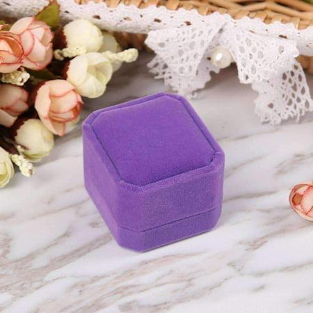 Luxurious Velvet Ring Box in Five -