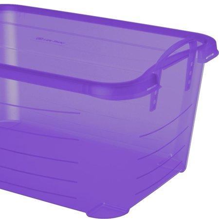 Life Story Purple Stackable Closet & Storage Box 55 Quart Containers (12 Pack) (Purple Storage Bins)