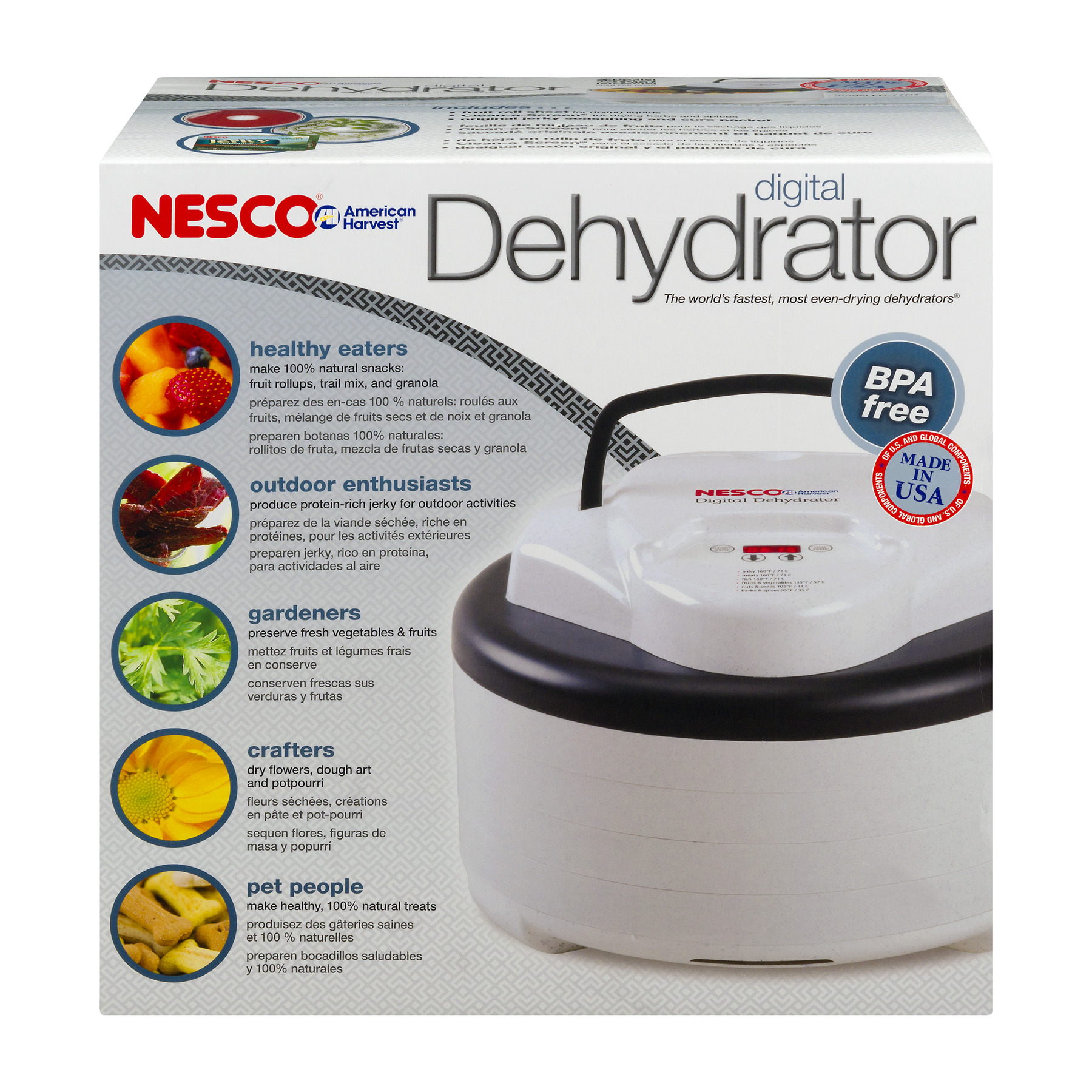 Nesco FD-77DT Digital Food and Jerky Dehydrator