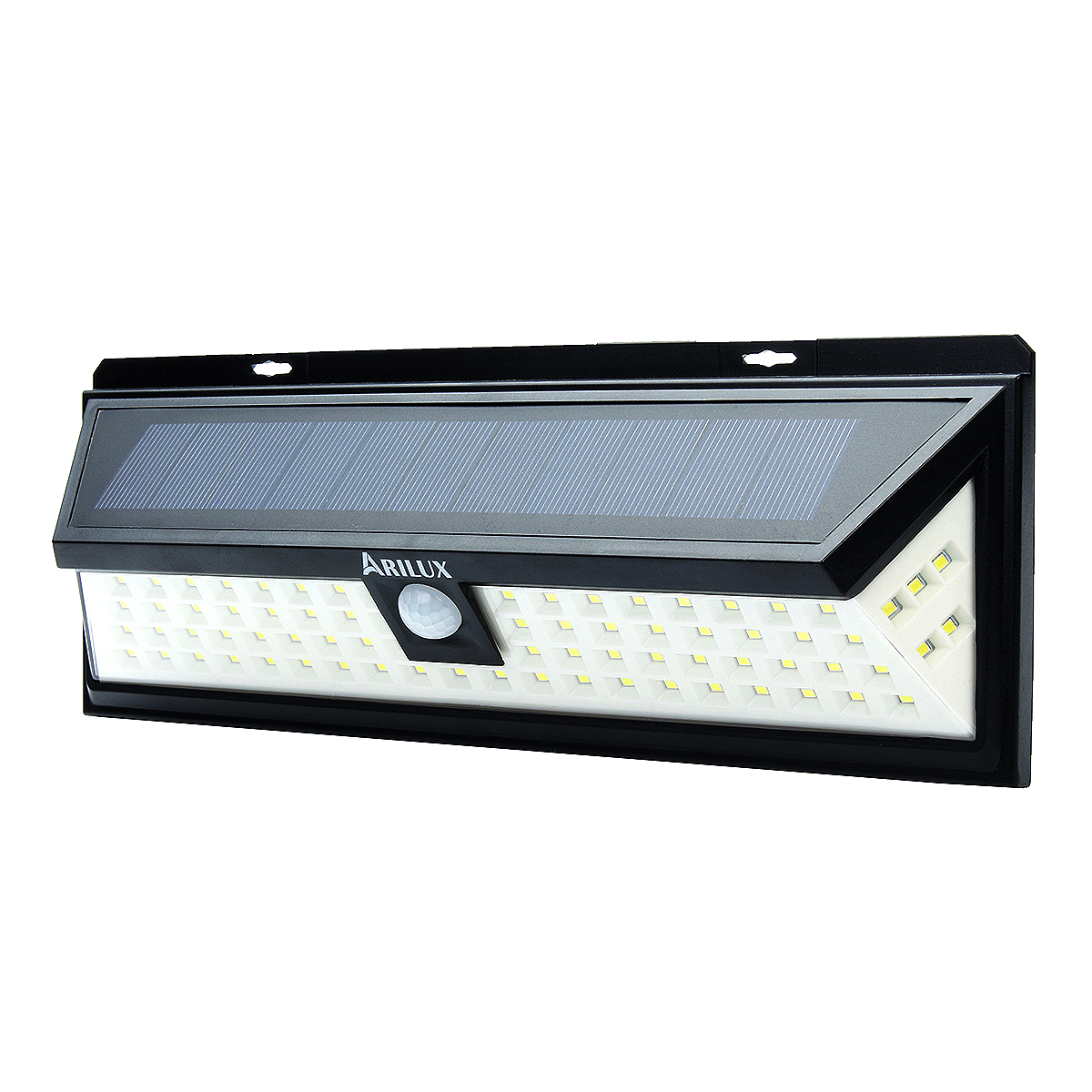 ARILUX Solar Wall Light 80 LED Home Security Solar Power Dimmable Waterproof Wall Light With Motion Sensor For Garden Patio