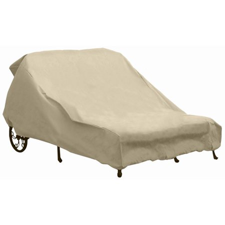 sure fit double chaise lounge cover taupe. Black Bedroom Furniture Sets. Home Design Ideas