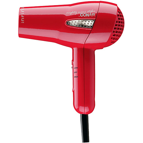 Conair Infiniti Tourmaline Ceramic Mighty Mini Styler - red