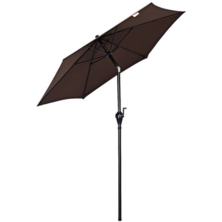 Gymax 6ft Outdoor Patio Backyard Garden Umbrella with Steady Iron Pipe Ribs - image 2 of 8