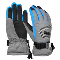 Vbiger Kids Winter Warm Gloves Waterproof Snow Ski Gloves Kids Sports Gloves for Sledding Cycling Snowboarding and More, Grey, L