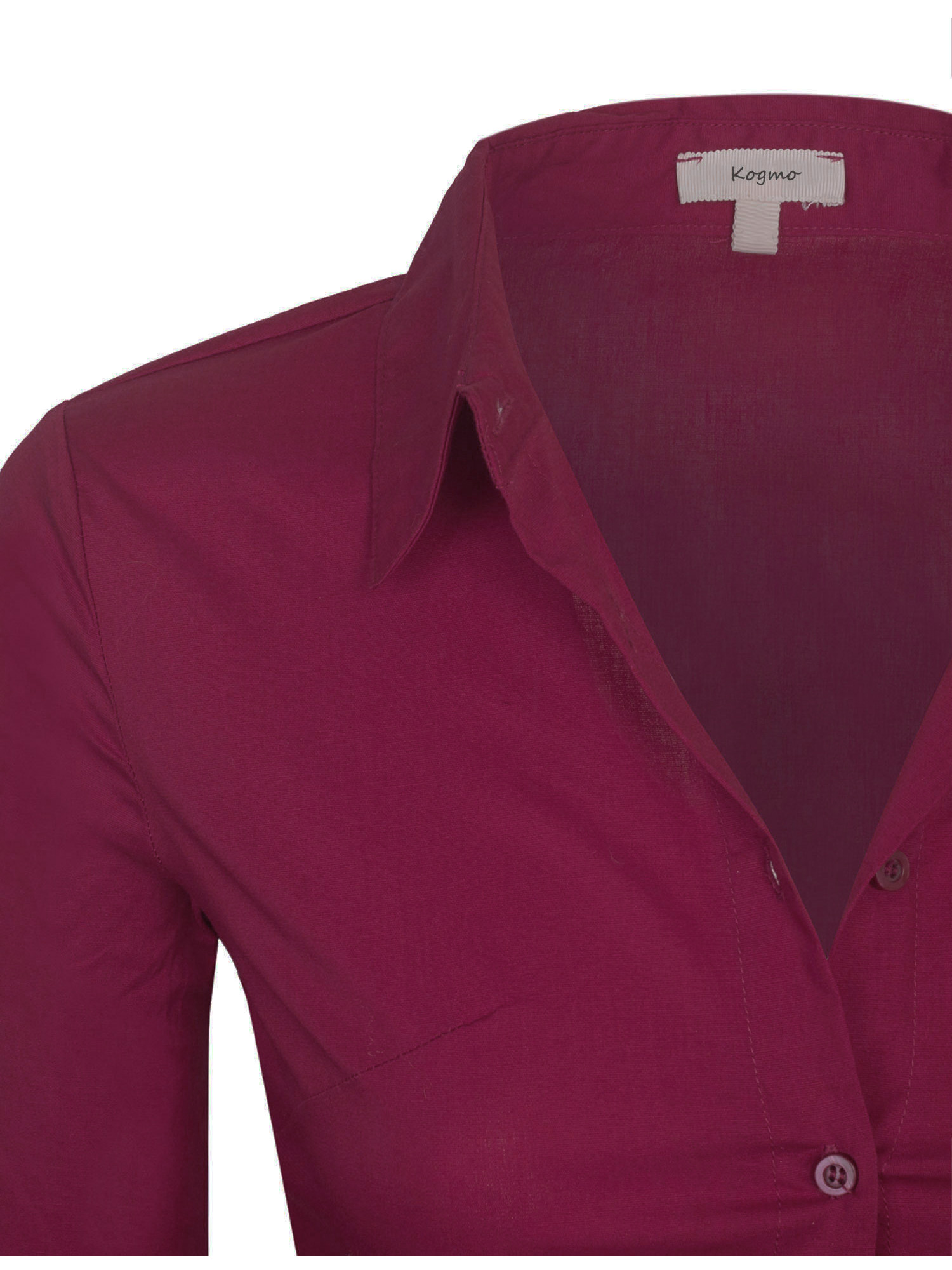 825feb7e KOGMO - KOGMO Womens Classic Solid Long Sleeve Button Down Blouse Dress  Shirt - Walmart.com