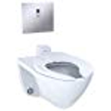 TOTO Elongated 1.0 Gpf Wall-Mounted Flushometer Toilet Bowl with Back Spud, Cotton White-CT708UV#01
