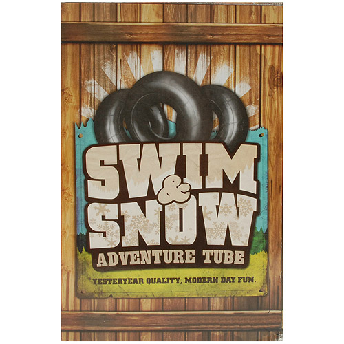 40 Swim & Snow Adventure Tube Multi-Colored by Trans American Rubber