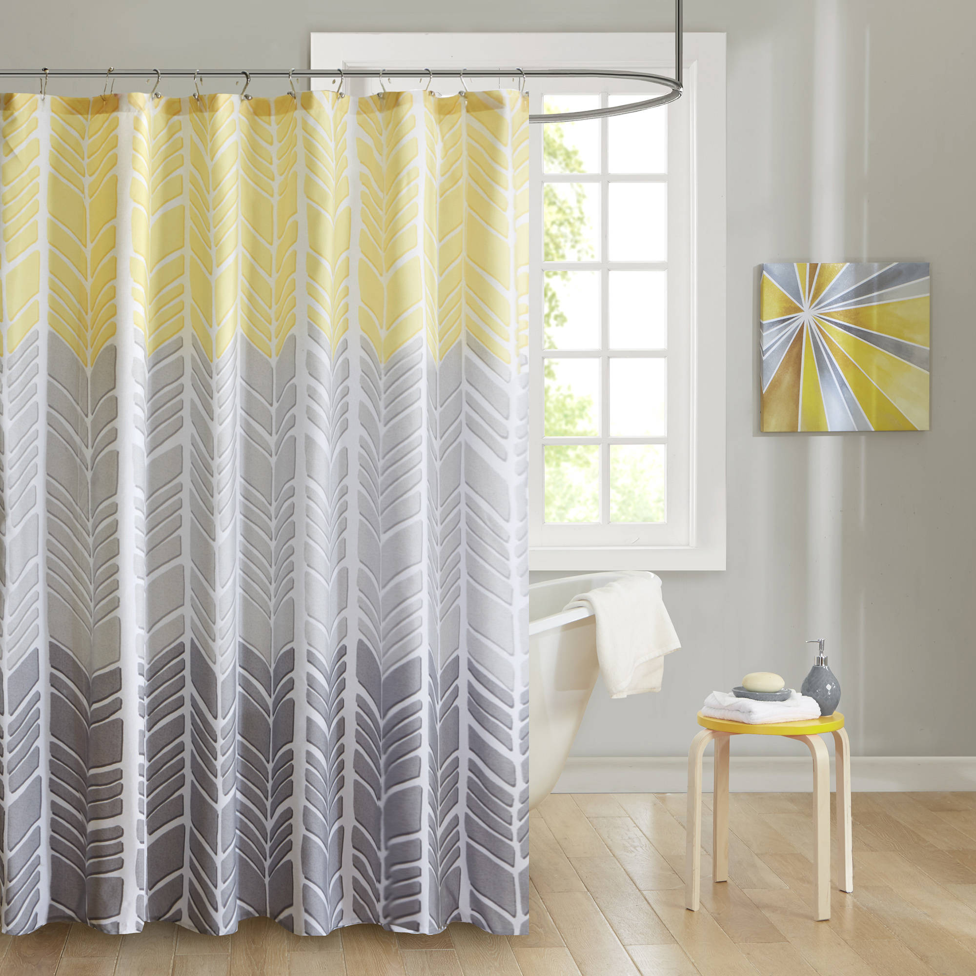Home Essence Apartment Amanda 100 Percent Microfiber Printed Shower Curtain