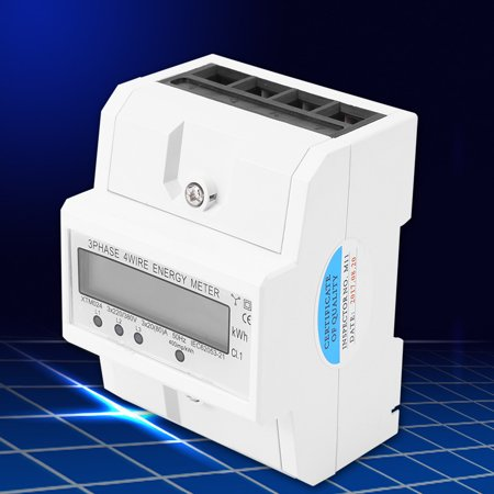 Yosoo Digital LCD 3 x 20(80A) Three Phase Four Wire DIN-Rail KWh Electronic Energy Meter Three Phase Four Wire Electric Meter Electronic KWh (3 Phase 3 Wire Energy Meter Connection)