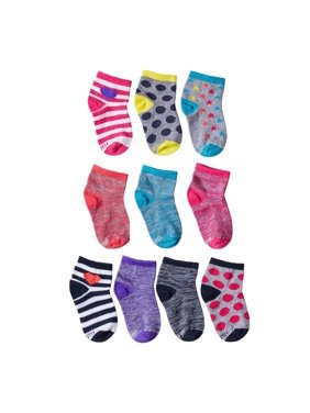 Hanes Girls Socks, 10 Pack Ankle Fashion, Sizes S - L
