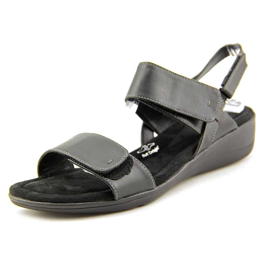 Soft Style by Hush Puppies Wela Women  Open-Toe Leather Black Slingback Sandal